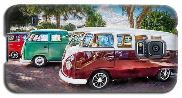 Vw Bus Stop 1964 1961 1968 Vans Trucks Painted Galaxy S5 Case