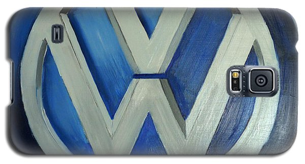 Vw Logo Blue Galaxy S5 Case