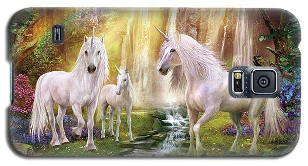 Waaterfall Glade Unicorns Galaxy S5 Case by Jan Patrik Krasny