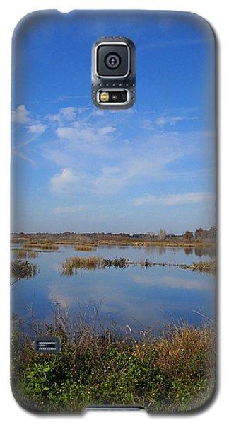 Wading Bird Way 001 Galaxy S5 Case by Chris Mercer