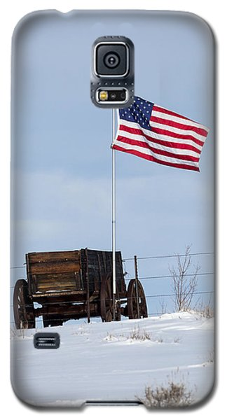 Wagon And Flag Galaxy S5 Case