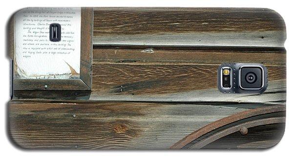 Wagon Wheel And Wagon Shop Nevada City Montana Galaxy S5 Case