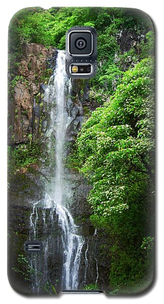 Waikani Falls At Wailua Maui Hawaii Galaxy S5 Case by Connie Fox