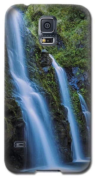 Galaxy S5 Case featuring the photograph Waikani Falls by Hawaii  Fine Art Photography