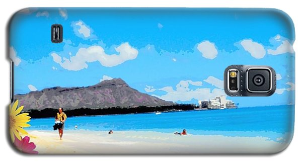 Galaxy S5 Case featuring the photograph Waikiki Beach by Mindy Bench