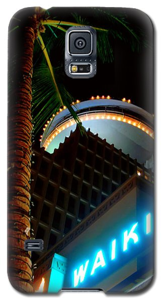 Galaxy S5 Case featuring the photograph Waikiki Nightlife by Kara  Stewart