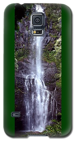 Wailua Falls Maui Hawaii Galaxy S5 Case by DJ Florek