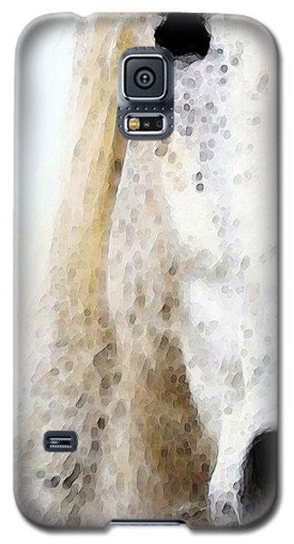 White Horse Galaxy S5 Case - Horse Art - Waiting 2 - By Sharon Cummings by Sharon Cummings