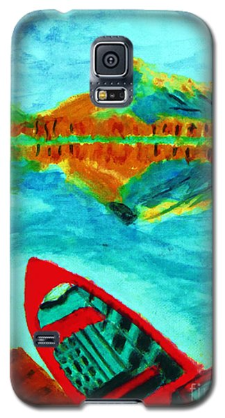 Waiting Boat Of Alberta Canada Galaxy S5 Case