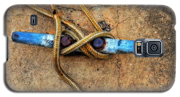 Boat Galaxy S5 Case - Waiting - Boat Tie Cleat By Sharon Cummings by Sharon Cummings