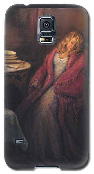 Galaxy S5 Case featuring the painting Waiting by Donna Tucker