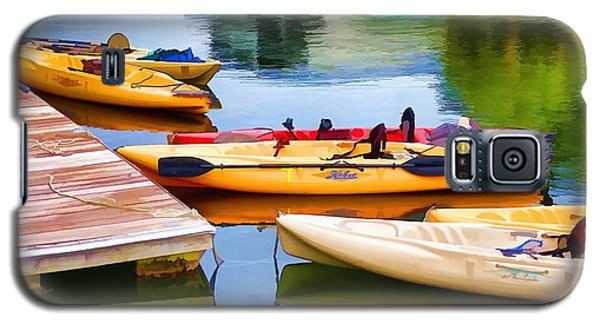 Galaxy S5 Case featuring the photograph Waiting For Adventure by Pamela Blizzard