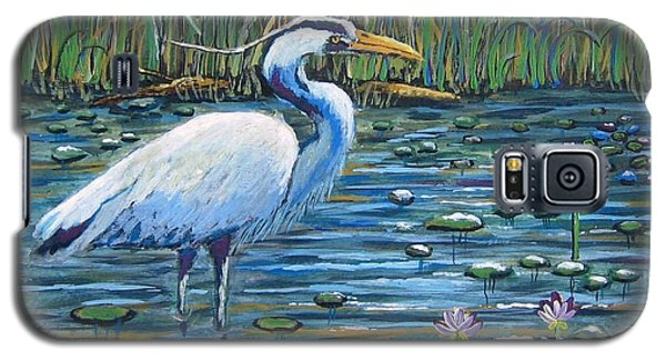 Galaxy S5 Case featuring the painting Waiting For Lunch by Suzanne Theis