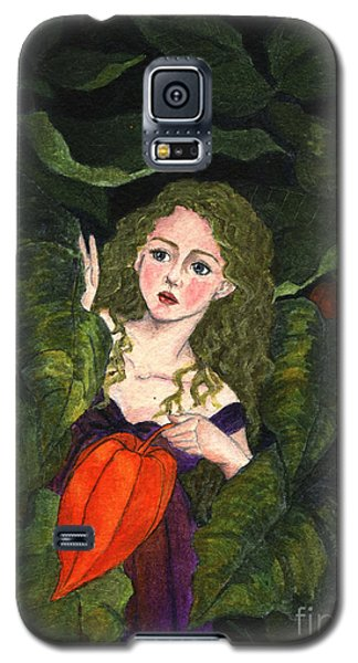 Galaxy S5 Case featuring the painting Waiting For Secret Lover by Jingfen Hwu
