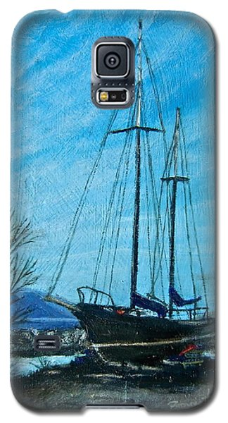 Galaxy S5 Case featuring the painting Waiting For Springtime. by Bonnie Heather