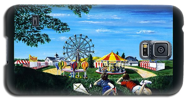 Galaxy S5 Case featuring the painting Waiting For The Fair by Ron Haist