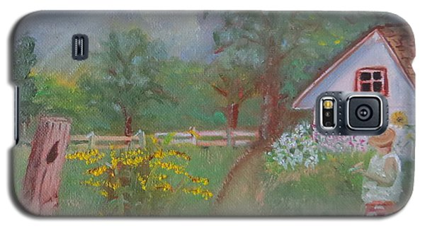 Galaxy S5 Case featuring the painting Waiting For The Light by Sharon Schultz