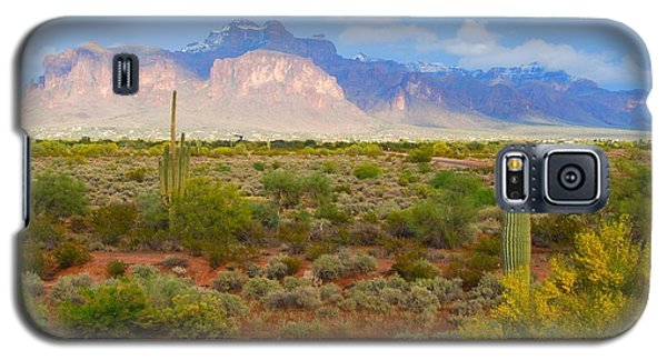 Galaxy S5 Case featuring the photograph 16x20 Canvas - Superstition Mountain Light by Tam Ryan