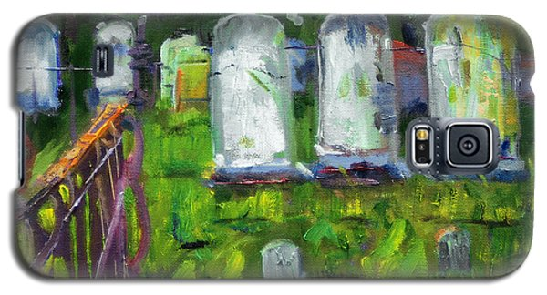 Galaxy S5 Case featuring the painting Waiting For You by Michael Daniels