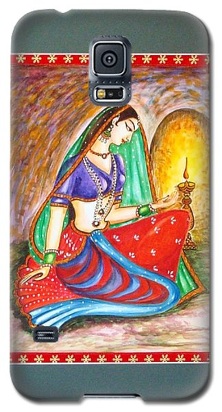 Galaxy S5 Case featuring the painting Waiting  by Harsh Malik