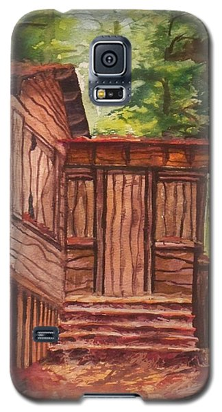 Galaxy S5 Case featuring the painting Waiting by Joy Nichols