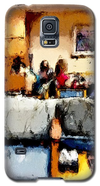 Galaxy S5 Case featuring the painting Waiting by Robert Smith