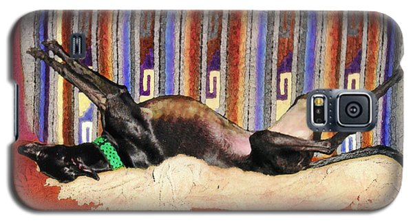 Wake Me When The Coffee's Ready Galaxy S5 Case by Ginny Schmidt