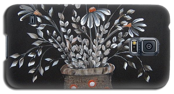 Galaxy S5 Case featuring the painting Wake Up And See The Flowers by Suzanne Theis