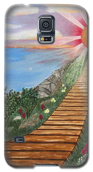 Galaxy S5 Case featuring the painting Waking Up Love by Cheryl Bailey