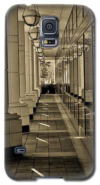 Galaxy S5 Case featuring the photograph Walk By The Offices by Joseph Hollingsworth