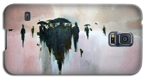Galaxy S5 Case featuring the painting Walk To The Sun by Ed  Heaton