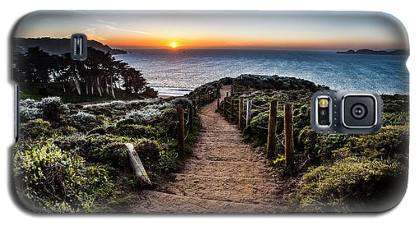 Walk To The Sunset Galaxy S5 Case