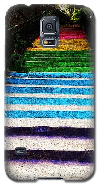 Walkin' On Rainbow Galaxy S5 Case