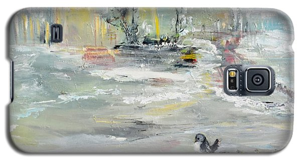 Galaxy S5 Case featuring the painting Walking  by Evelina Popilian
