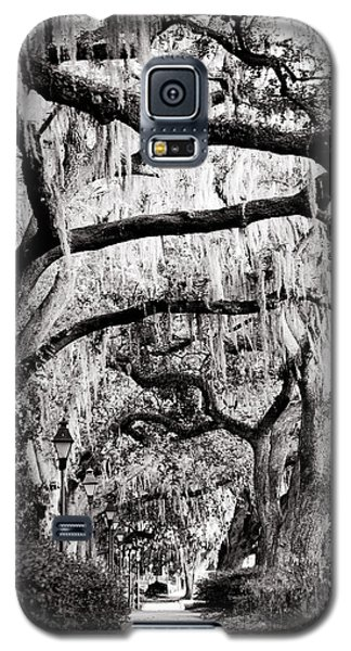 Walking In Forsyth Park In Black And White Galaxy S5 Case