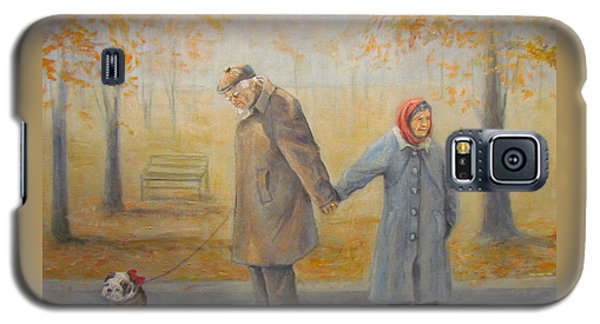 Galaxy S5 Case featuring the painting Walking Miss Daisy by Donna Tucker