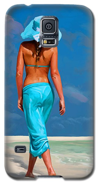 walking on the beach V Galaxy S5 Case by Tim Gilliland