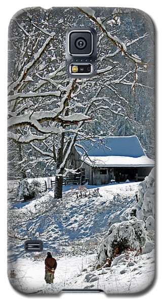 Galaxy S5 Case featuring the photograph Walking Toward The Barn by Denise Romano
