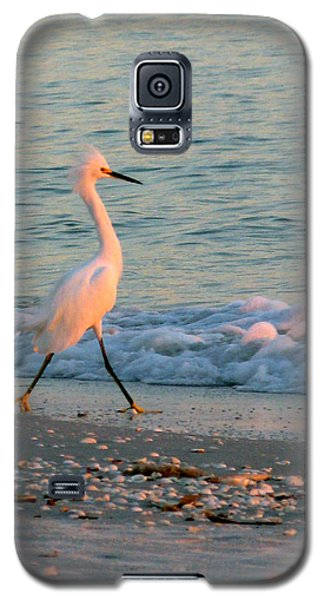 Galaxy S5 Case featuring the photograph Walking Towards The Sunset by Patricia Januszkiewicz