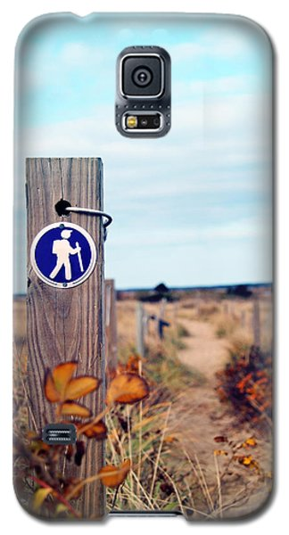 Galaxy S5 Case featuring the photograph Walking Trail By The Sea by Brooke T Ryan