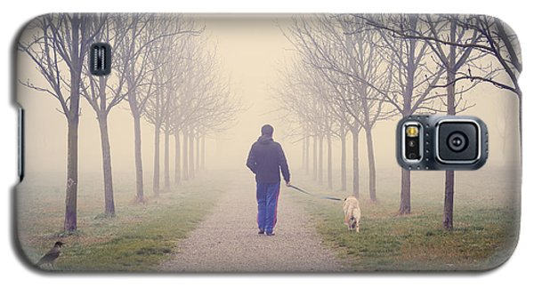 Walking With The Dog Galaxy S5 Case
