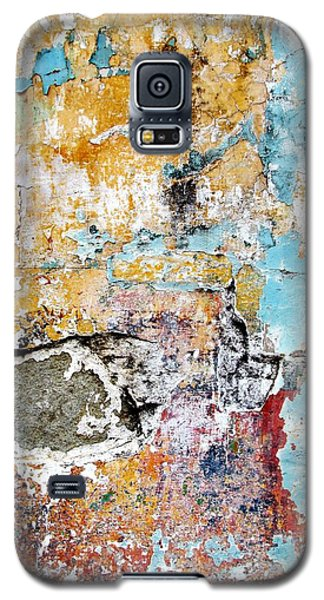 Galaxy S5 Case featuring the digital art Wall Abstract 124 by Maria Huntley