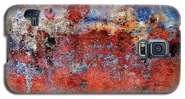 Galaxy S5 Case featuring the digital art Wall Abstract 17 by Maria Huntley