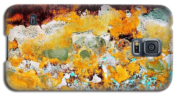 Galaxy S5 Case featuring the digital art Wall Abstract 28 by Maria Huntley
