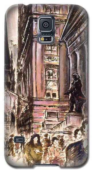 New York Wall Street - Fine Art Painting Galaxy S5 Case