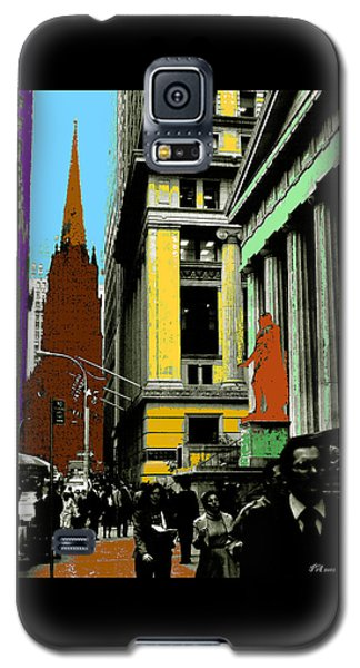 New York Pop Art - Blue Green Red Yellow Galaxy S5 Case by Art America Gallery Peter Potter
