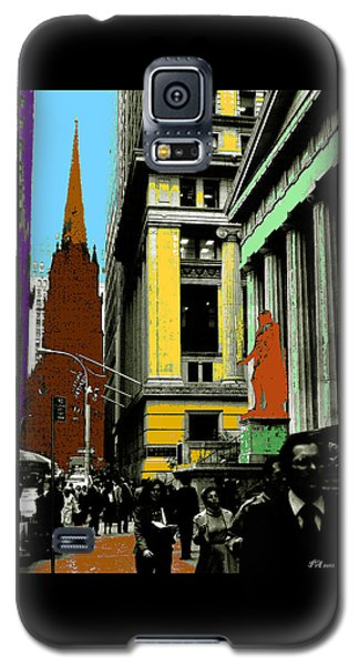 New York Pop Art In Blue Green Red Yellow Galaxy S5 Case