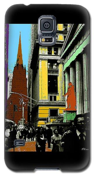 New York Pop Art Blue Green Red Yellow Galaxy S5 Case