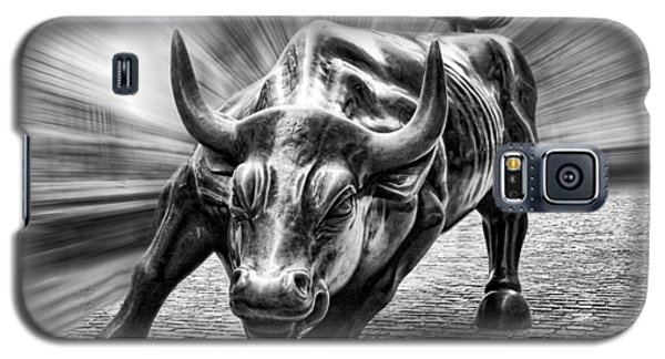 Wall Street Bull Black And White Galaxy S5 Case