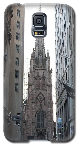 Wall Street Leading To Trinity Church Galaxy S5 Case